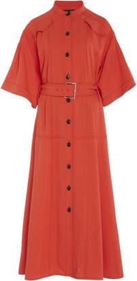Proenza Schouler Short-Sleeve Crepe Shirt Dress