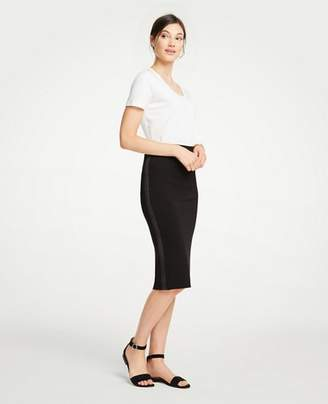 Ann Taylor Shimmer Stitched Pencil Skirt