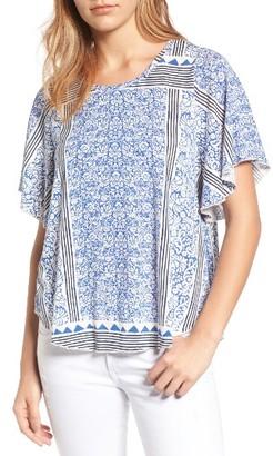 Women's Lucky Brand Triangle Stripe Top $39.50 thestylecure.com