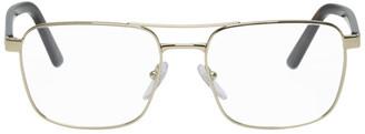 Prada Gold and Tortoiseshell Heritage Glasses