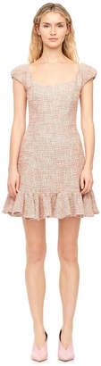 Cap Sleeve Spring Tweed Dress