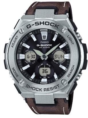 Men's G-Shock G-Steel Solar Leather Strap Watch, 59Mm $300 thestylecure.com