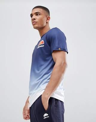 Ellesse Eularia dip fade t-shirt in navy