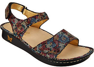 Alegria Leather Ankle Strap Adjustable Sandals- Patti