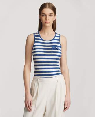 Ralph Lauren Striped Silk Tank Top