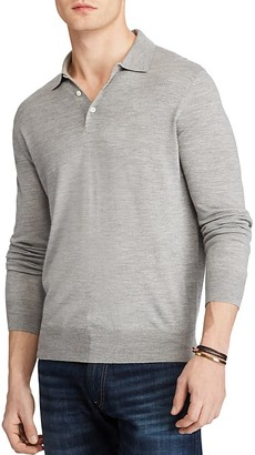 Polo Ralph Lauren Merino Silk Cashmere Regular Fit Polo Sweater $185 thestylecure.com