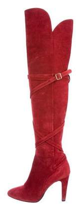 Philosophy di Lorenzo Serafini Suede Over-The-Knee Boots