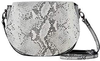 Mint Velvet Nina Leather Shoulder Bag, Snake Print