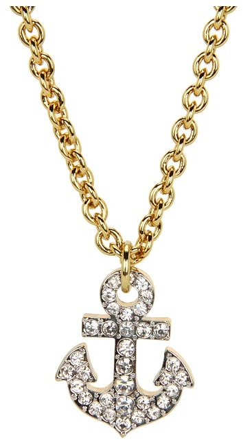 Juicy Couture Anchor Charm Necklace (Gold) - Jewelry