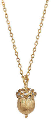 Kate Spade So Foxy Pave Crystal Acorn Pendant Necklace