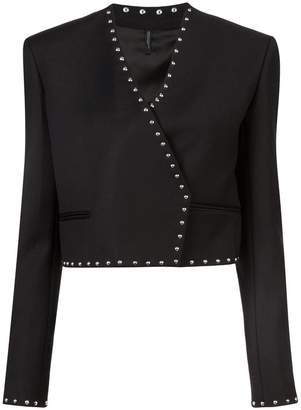 Helmut Lang studded cropped jacket