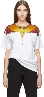Marcelo Burlon County of Milan White Glitch Wings T-Shirt