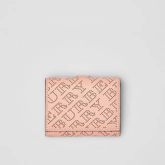 Burberry Small Perforated Logo Leather Wallet