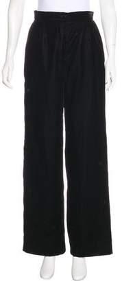 Chanel High-Rise Velvet Pants