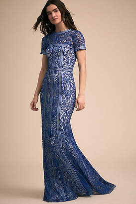 Anthropologie Blue Nights Wedding Guest Dress