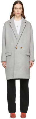 Isabel Marant Grey Filipo Long Coat