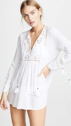 Kos Resort Eyelet Tunic Dress