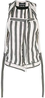 Ann Demeulemeester striped buckled gilet