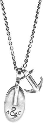 Anchor And Crew London Silver Pulley Pendant Necklace