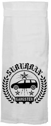 "Kitchen Towel, Funny With Hang Tight Design by Twisted Wares ""SUBURBAN GANGSTER"" Made With A Super Absorbent, Quick Dry, Lint Free 100% Cotton Flour Sack"