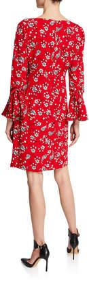 Karl Lagerfeld Paris 3/4-Bell Sleeve Sheath Dress