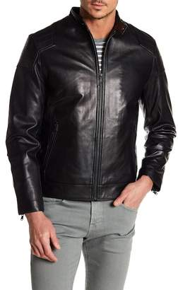 Moto Campaign Black Seam Shoulder Panel Leather Jacket