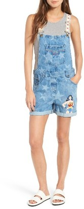 Women's Paul & Joe Sister Wonder Woman Denim Short Overalls