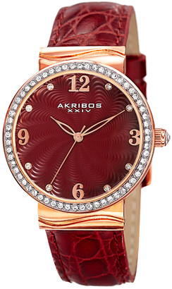 Akribos XXIV Women's Leather Watch