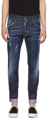 DSQUARED2 Blue Sexy Twist Run Dan Jeans