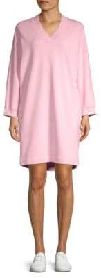 Kenzo V-Neck Sweatshirt Dress