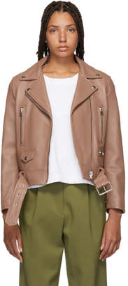 Acne Studios Pink Leather Mock Jacket