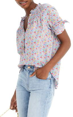 J.Crew Liberty(R) Favourite Flowers Ruffle Classic Popover Shirt