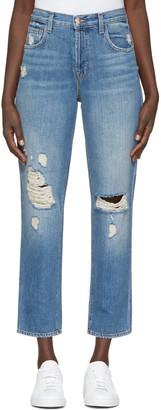 J Brand Blue High-Rise Ivy Jeans $230 thestylecure.com