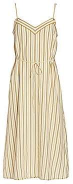 Rag & Bone Women's Ilona Striped Silk Sleeveless Dress