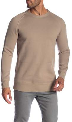 Helmut Lang Brushed French Terry Raglan Crew Sweater