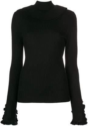 Chloé turtle neck ruffle sweater