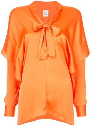 Maison Rabih Kayrouz pussy bow layered blouse