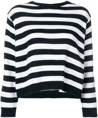 Valentino striped bow sweater
