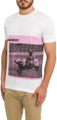 DSQUARED2 T-shirt With Rodeo Print