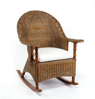 One Kings Lane Eastern Shore Wicker Rocking Chair - Chestnut