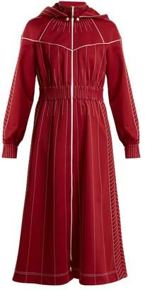 Valentino High Neck Jersey Dress - Womens - Red