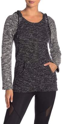 Andrew Marc Raglan Sleeve Hooded Tunic