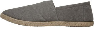 Fluid Mens Heavy Canvas Espadrilles With Centre Elastic Grey