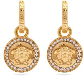 Versace Medusa Charm Pendant Earrings - Womens - Gold
