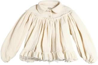 Gathered Doubled Cotton Garza Shirt
