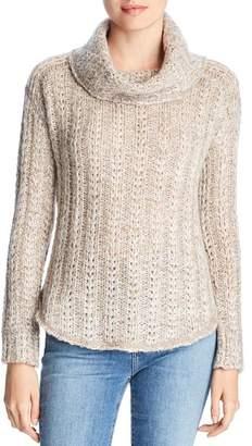 Three Dots Three Dot Melange Cowl-Neck Sweater