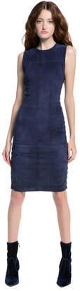 Alice + Olivia Larita Fitted Suede Mini Dress