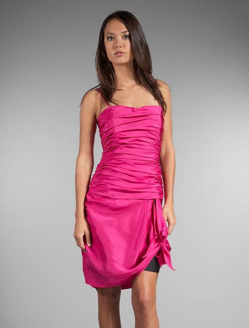 Foley + Corinna Strapless Tie Cocktail Dress