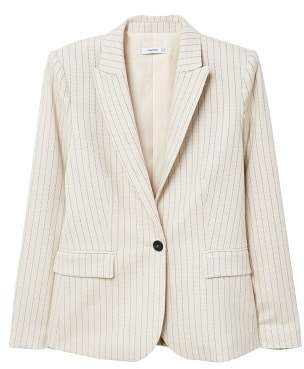 MANGO Striped structured blazer