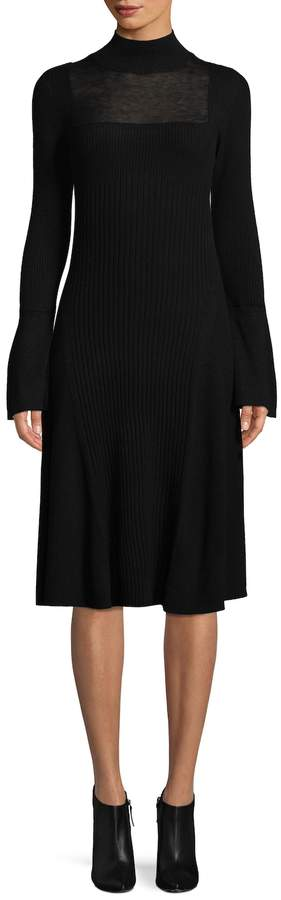 BCBGMAXAZRIA Women's Wilah Bell Sleeve Sweater Dress